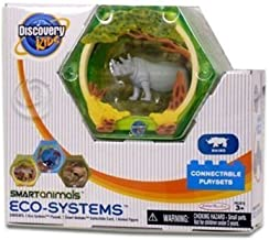 Discovery Kids - 2 Smart Animals Eco Systems - Rhino Connectable Playset by Jakks