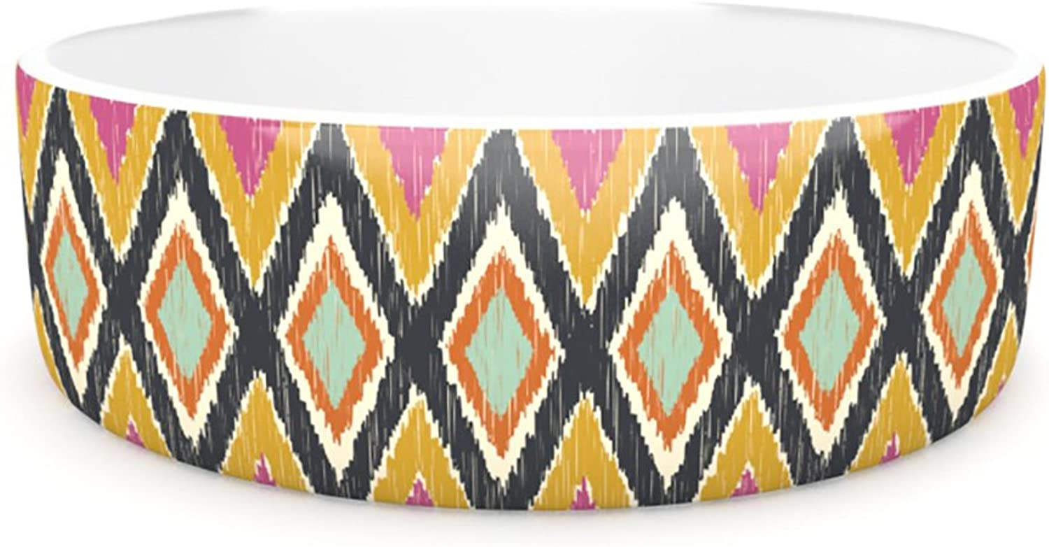 Kess InHouse Amanda Lane Sequoyah Tribals  Pet Bowl, 7Inch