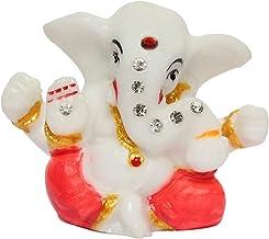 Affaires Decorative Ganesh Stone Studded Idol/Murti/Ganjapti Statue Showpiece Gift Item for Car Dashboard| Puja | Mandir P...