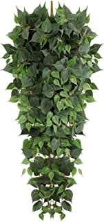 Luyue 4.3ft Artificial Hanging Plants,Fake Ivy Leaves Scindapsus Vine for Wall Greenery Hanging Garland for Room House Ind...