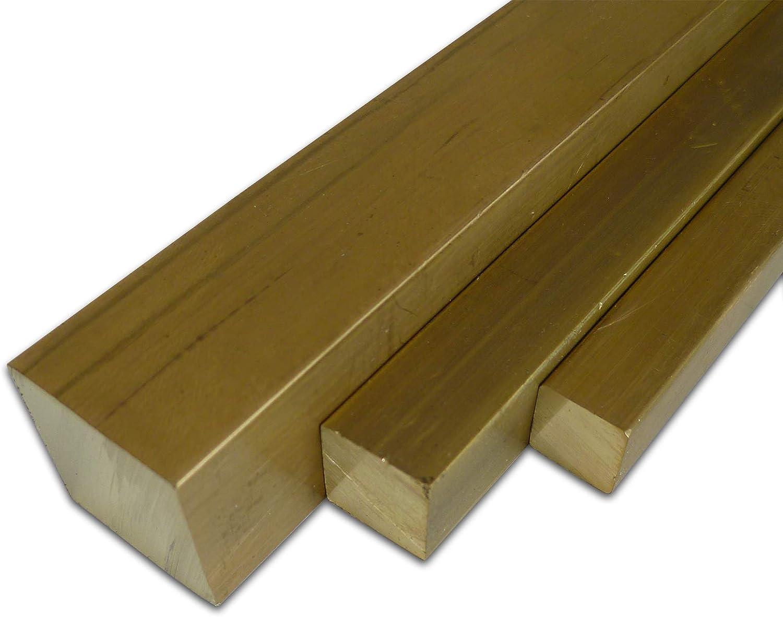 massiv | Flachstange B/&T Metall Messing Flach CuZn39Pb3 MS58 0,5 m Ma/ße HxB: 4 x 40 mm L/änge ca