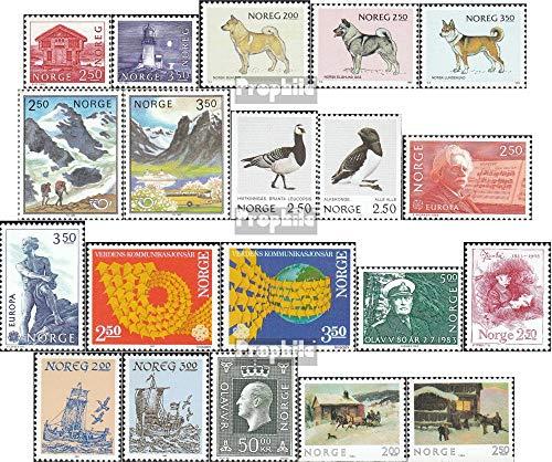 Noorwegen Mi.-Aantal.: 876-895 (compleet.Kwestie.) Deel 1983 compleetett 1983 Structures, Honden, Vogels, Boten u.A. (Postzegels voor verzamelaars)