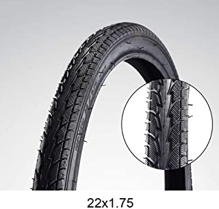 Generies Bicycle tire 12/14/16/18/20/22/24/26 inch,Tubeless Folding Tire, eplacement Bike Tire, Multiple Bike Styles, Black