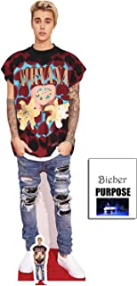 Fan Pack - Justin Bieber Ripped Jeans Lifesize and Mini Cardboard Cutout / Standup - Includes 8x10 Star Photo