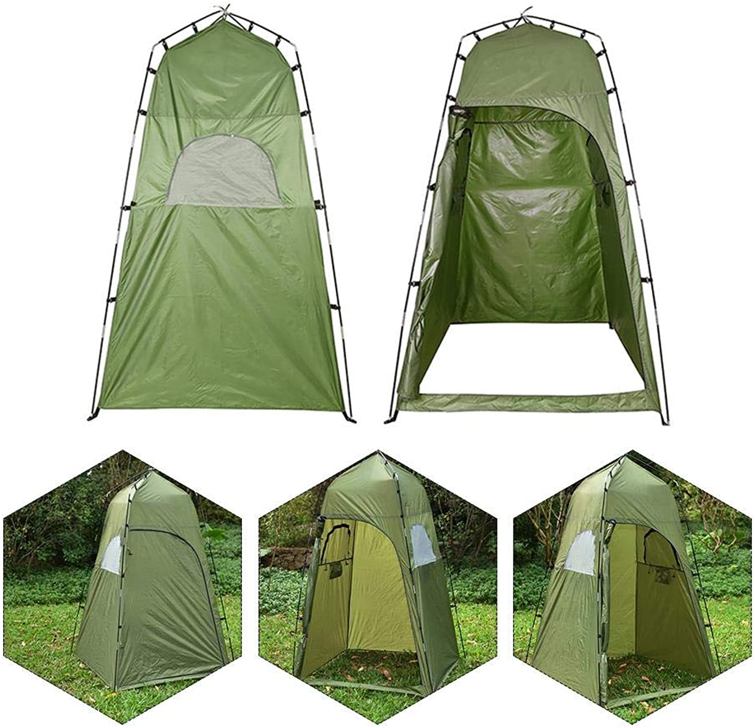 Pop-Up Toilet Tent for Camping,Waterproof Family Beach Dome Tents for Changing Dressing Fishing Shower, Storage Room,Portable UV Predection Tents with Carry Bag