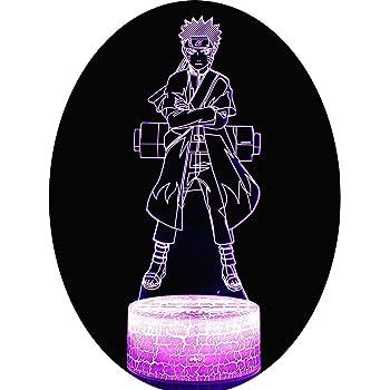 3D Night Light Cartoon Enfants Kakashi Sasuke Sakura Manga Anime Amiti/é Comique Capteur Lampe Veilleuse Lampe 3D