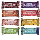 Rawmygod Vegane Snack Energieriegel - Just Nuts & Fruits - Raw Vegan und Glutenfrei (8er Probierpaket)