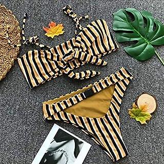 BEESCLOVER Women's Swimmming Suit Bikinis One Shoulder Push Up Bandage Bikini Set Maillot De Bain Femm Swimwear Brazilian Beachwear