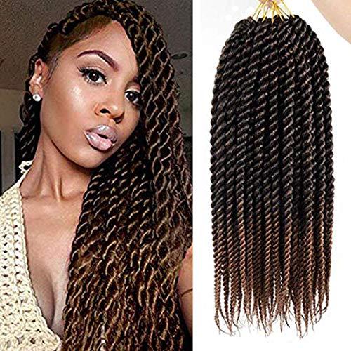 7 Pack Havana Twist Crochet Hair 18 Inch Senegalese Twist Crochet Braids Hair Synthetic Braiding Hair Extensions for Black Women (18inch, T30)