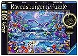 Ravensburger Puzzle 15047 - Im Zauber des Mondlichts - 500 Teile Puzzle für Erwachsene und Kinder ab 10 Jahren, Leuchtpuzzle mit Unterwasserwelt-Motiv, Leuchtet im Dunkeln