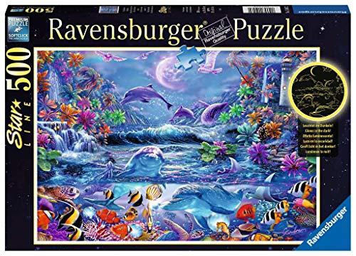 Ravensburger- Puzzle 500 pièces Star Line-La Magie du Clair de Lune Adulte, 4.00556E+12