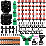 """ZADEFERI Garden Irrigation System 165FT 197 Pcs Drip Irrigation Kit 1/4"""" 1/2"""" Blank Distribution Tubing Watering Drip Kit Automatic Irrigation Equipment for Garden Greenhouse, Flower Bed,Patio,Lawn"""