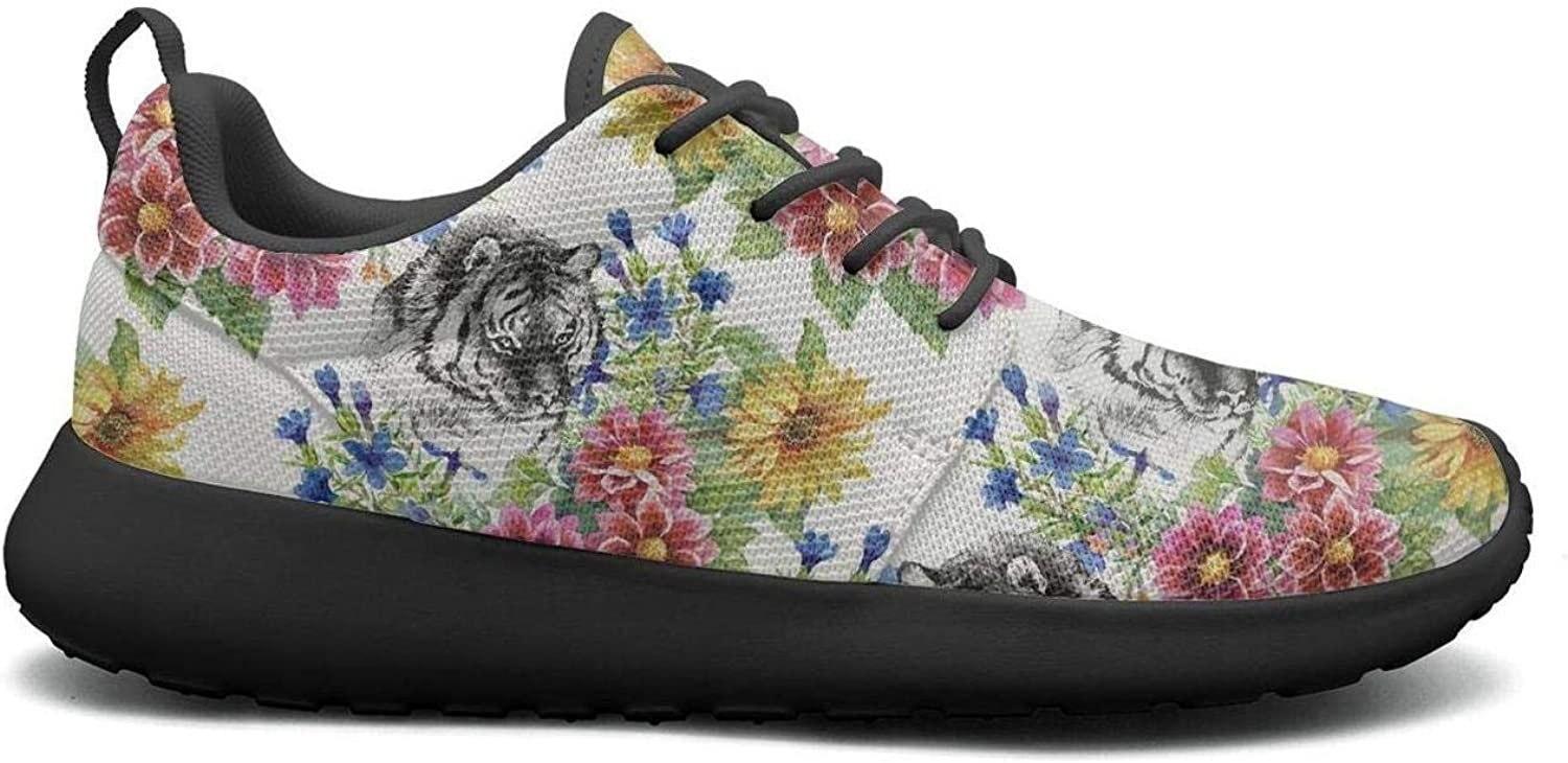 CHALi99 Casual Female's Lightweight Mesh shoes Vintage Sunflowers Sneakers Running Quick Dry