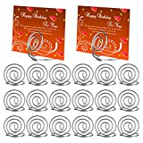 [20 Pack] Table Card Holders, AKWOX 1.38 inch Ring Shape Wire Place Card