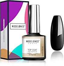 Modelones Gel Top Coat- 10ML No Wipe Top Coat Gel Nail Polish High Gloss Shine Finish Long Lasting Home Manicure with Gift...