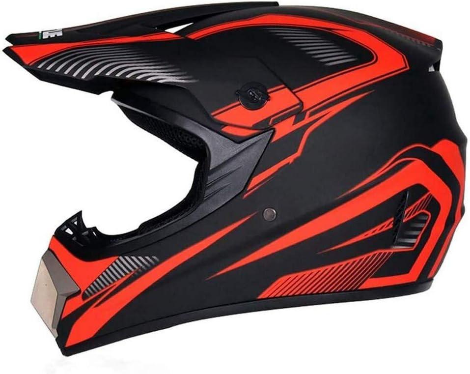 ZGYZ Casco de Motocross para Mujer, Negro y Rojo, Conjunto de Casco de Moto Cruzado, Red de Casco, Casco de Motocicleta MTB para Dirt Bike MX, Quad, ATV