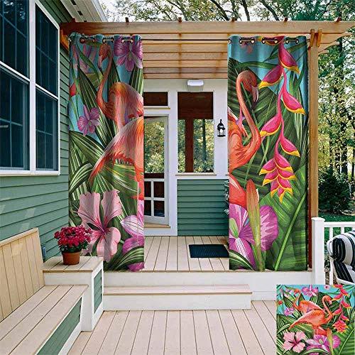 cortinas habitacion flamingos