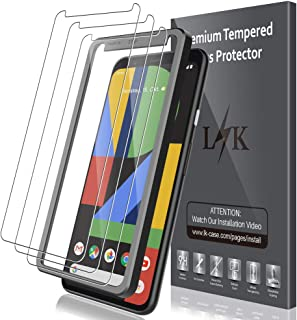 LK [3 Pack] Screen Protector for Google Pixel 4 XL Tempered Glass (Easy Frame Installation) 9H Hardness Anti-Scratch with Lifetime Replacement Warranty