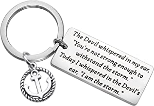FUSTMW Inspirational Gifts I Am The Storm Keychain Motivating Jewelry Encouragement Gift