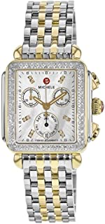 Women's MWW06P000108 Deco Analog Display Swiss Quartz Two Tone Watch