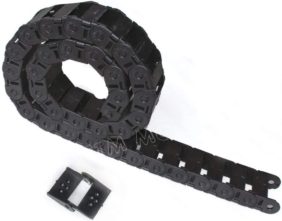 4X Reinforced Nylon Open Cable Wire Carrier Drag Chain 1m 25x77mm for CNC Router USA Stock