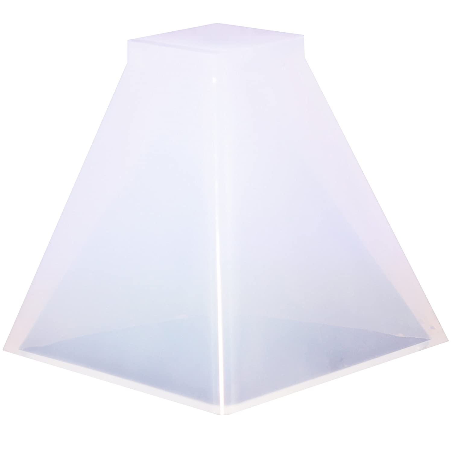 Funshowcase Pyramid Resin Epoxy Mold for Jewelry, Polymer Clay, Soap Making, Cabochon Gemstone Crafting Projects