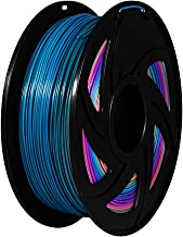 XVICO PLA Filaments Rainbow 3D Printer pla spools,1.75mm Filament 2.2 LBS 1KG, Rainbow Color