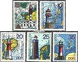 Prophila Collection DDR 2045-2049 (kompl.Ausgabe) 1975 Leuchtfeuer (Briefmarken für Sammler) Leuchttürme