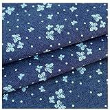 MAGFYLYDL Blau Baumwolle Muster Denim-Gewebe,