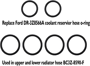 Hose Seal O-Ring Gasket Set Replacement 2 pcs DR-3Z8566A & 4 pcs BC3Z-8590-F Expansion Tank Hose Quick Connect O-Ring Kit for Ford F-150 F-350 F-450 F-550 Super Duty 2011-18