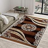 Vram 5D Designer Superfine Exclusive Velvet Carpet   Rug   Living Room   Bedroom   Hall   School   Temple   Bedside Runner   -  60' inch x 84' inch   150 cm x 210 cm   5 Feet x 7 Feet   - Camel-Brown
