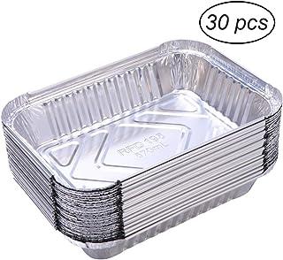 Bestomz - 30 bandejas portacomidas desechables de aluminio,