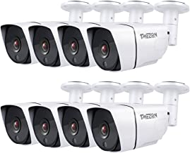 TMEZON 8 Pack OSD AHD Camera 4-in-1 AHD/CVI/TVI/CVBS 1080P 2.0MP 3.6mm Outdoor Indoor 36IR LEDs Day Night Vision Weatherpr...