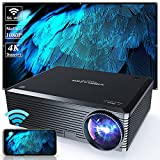 WISELAZER Native1080P Ultra HD 7500L Home Movie Projector , Support 4K ,5G Wireless Outdoor Portable Projector,Compatible with Tv Boxphone/Pc/Laptop(Black)