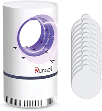 RUNADI Mosquito Killer - Indoor Attractant Fly Trap for Mosquitoes, Fruit Flies, Gnats, and Flying Insects with Blue Light -