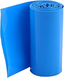 Uxcell PVC Heat Shrink Wrap for 4x18650 Battery Pack, 2 m, 70 mm Width, Blue