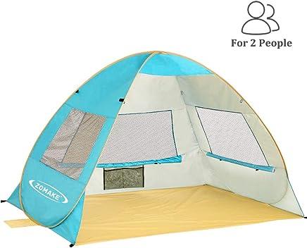 SehrGo Tente de Plage dext/érieur Soleil Tente Parasol Abri pour la P/êche Camping Randonn/ée Pique-Nique Park