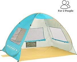 ZOMAKE Pop Up Beach Tent 2-3 Person, Lightweight Portable Sun Shelters Sun Shade Instant..