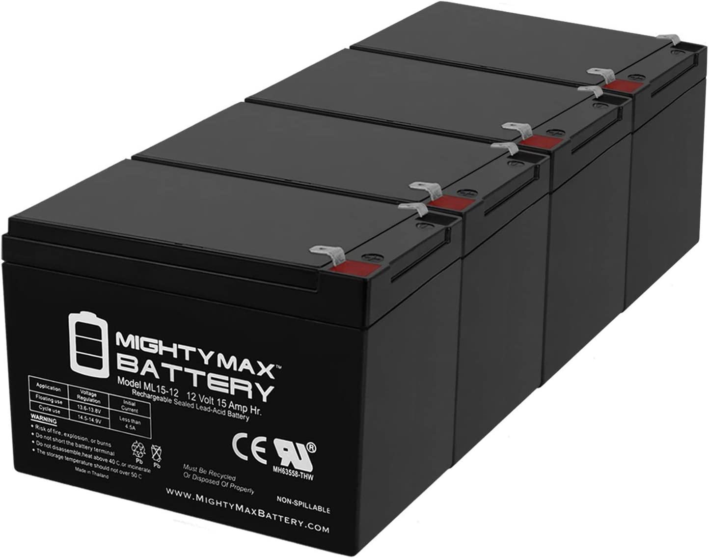 Mighty Max Mesa Mall Battery ML15-12 12V Minuteman UPS for Limited time trial price 15AH F2