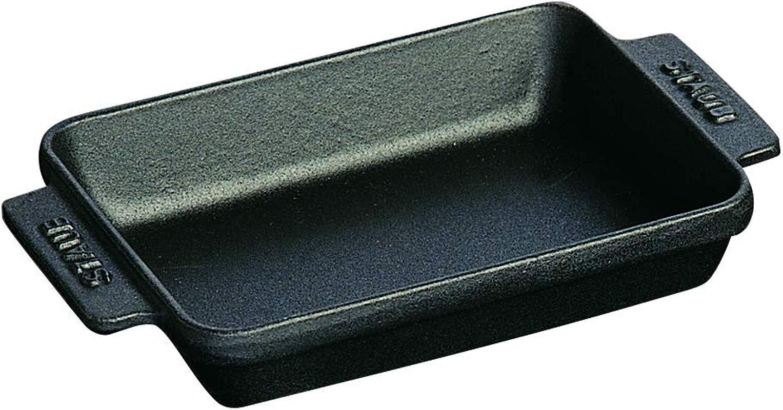 Staub Black Matte Cast Iron 8 Oz Mini Rectangular Dish