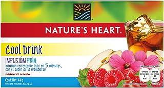 Nature's Heart Infusión Fría de Frambuesa, 20 sobres
