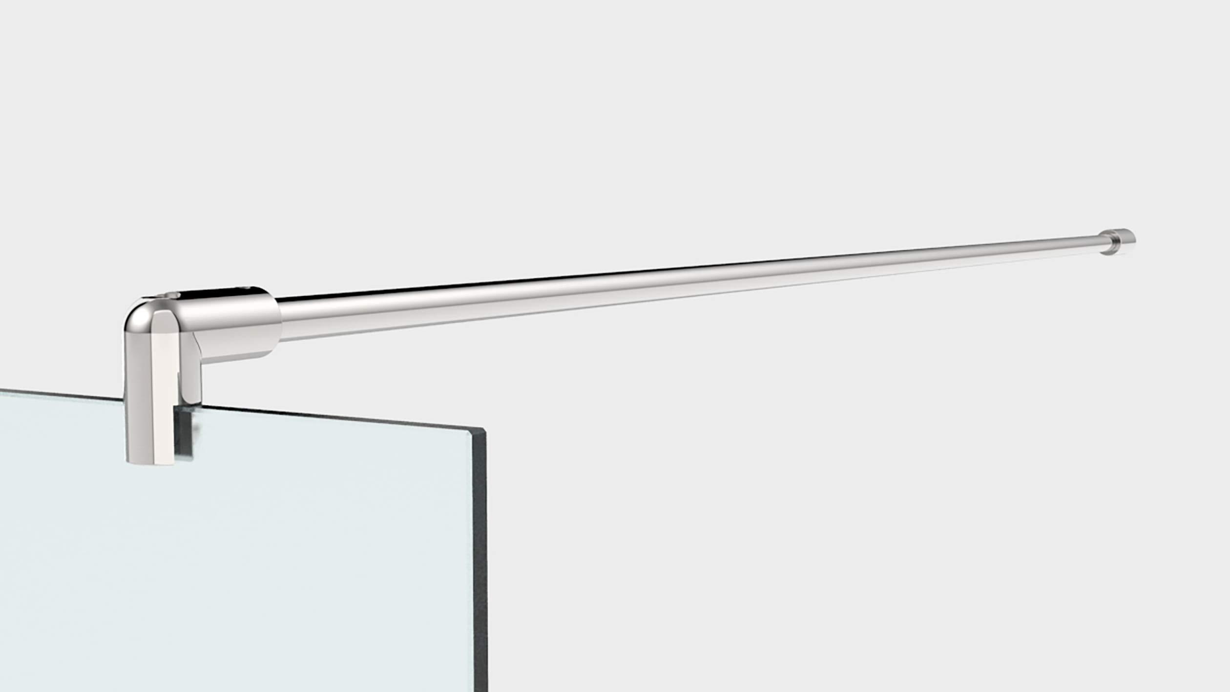 Mampara de ducha de vidrio templado con decoración LaserVision_004, ducha de cristal, grabado láser, varios diseños y dimensiones, incluye perfiles en cromo (alimentación Premium), 1300x2000mm: Amazon.es: Hogar