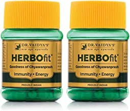 Dr. Vaidya's New Age Ayurveda | Herbofit | Goodness of Chywanprash | Boost Resistance and Energy | 30 Capsules Each (Pack ...