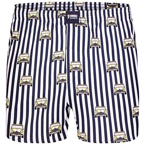Happy Shorts Boxershorts Herren/Web-Boxer mit Jersey-Innenslip; Modell: Oldtimer (XL)