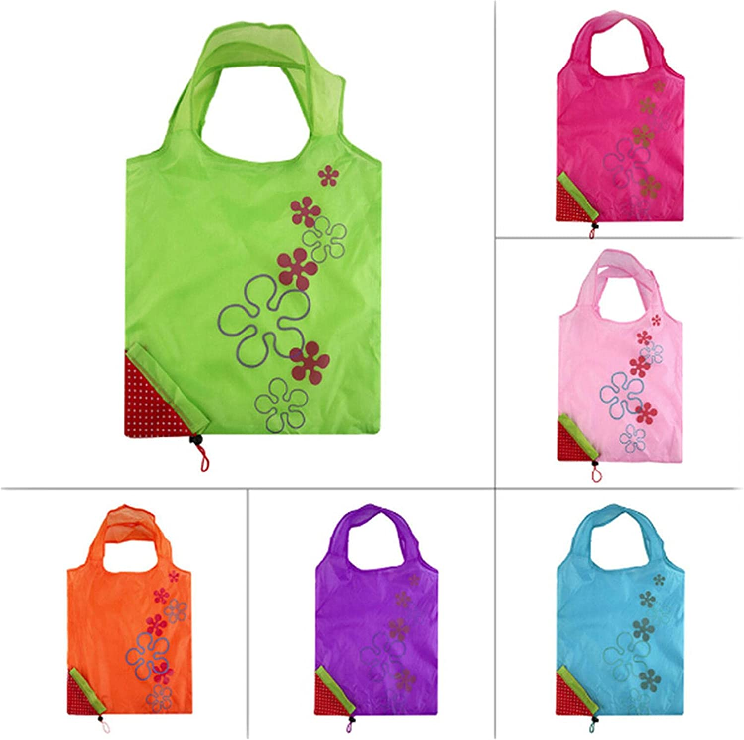 MOONRING Strawberry Shopping Bag Foldable Nylon Bag Shoulder Pouch Tote Bags
