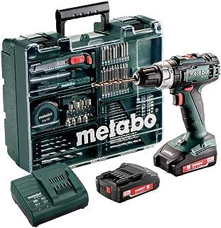 Metabo 602317870 borrskruvdragare BS 12 set (med batteri 2,0 Ah, 18 V, sladdlös skruvmejsel med fodral tillbehör inklusive...