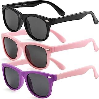 Kids Polarized Sunglasses for Boys Girls TPEE Rubber...