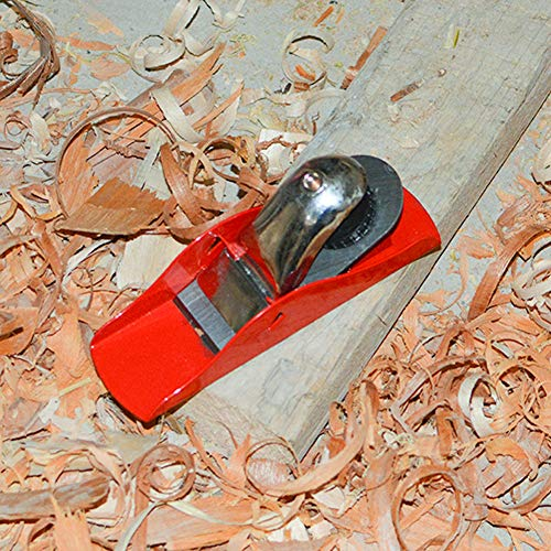 DSHE Mini Hand Planer Small Trimming Planer 6-1/2 inch Woodworking Pocket Plane Hand Plane with 1 inch Blade Adjustable Block Plane and 1 Wood Fixe for Trimming Projects Carpenter DIY Model Making