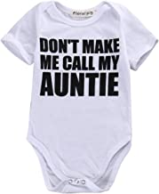 Gaono Newborn Baby Auntie Letter Print Short Sleeve Romper Infant Summer Clothing