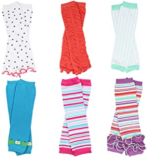 6 Pack Baby and Toddler Girls juDanzy Leg Warmers